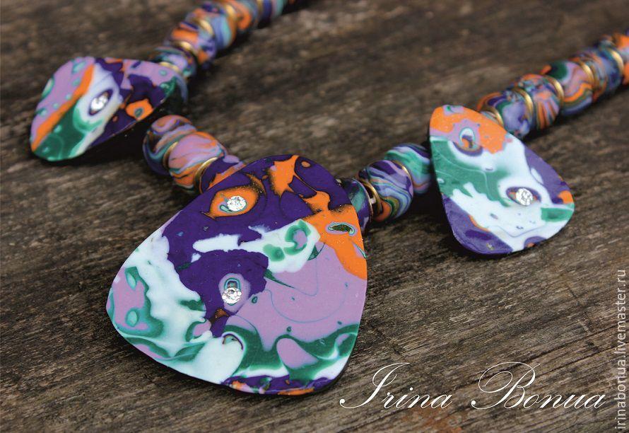 скидка на украшения, украшения с цветами, серьги, подарок девушке, irina bonua, украшение из полимерной