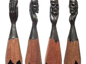 Точные миниатюры на грифеле. Ярмарка Мастеров - ручная работа, handmade.