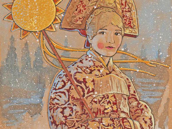 Новый год - Щедрец древняя традиция. Акварельный мастер-класс | Ярмарка Мастеров - ручная работа, handmade