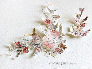 Делаем своими руками элемент декора открытки: распечатка и раскрашивание цветочного узора. Ярмарка Мастеров - ручная работа, handmade.