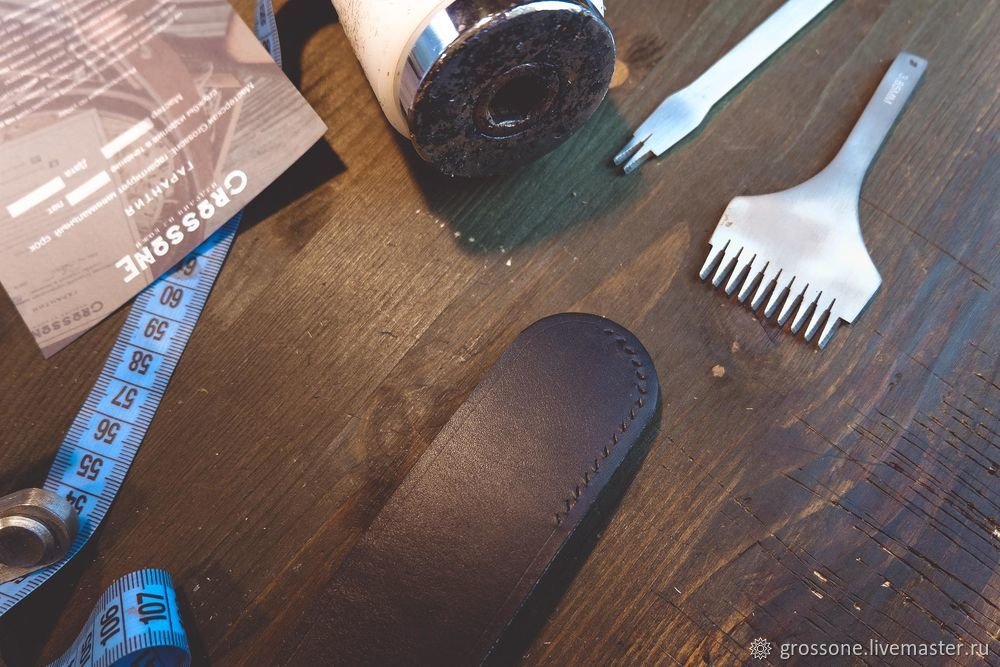 Step-by-step Tutorial for a Stitched Belt of English Bridle Leather, фото № 11