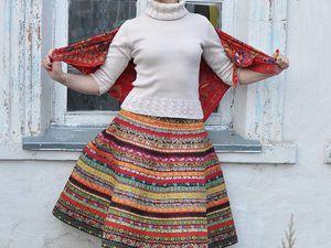 Как сшить юбку из жаккардовой тесьмы | Ярмарка Мастеров - ручная работа, handmade