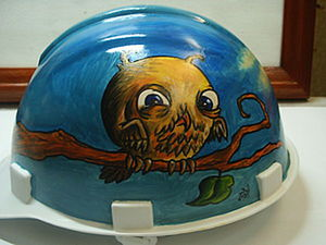 Painting a Construction Helmet DIY. Livemaster - handmade
