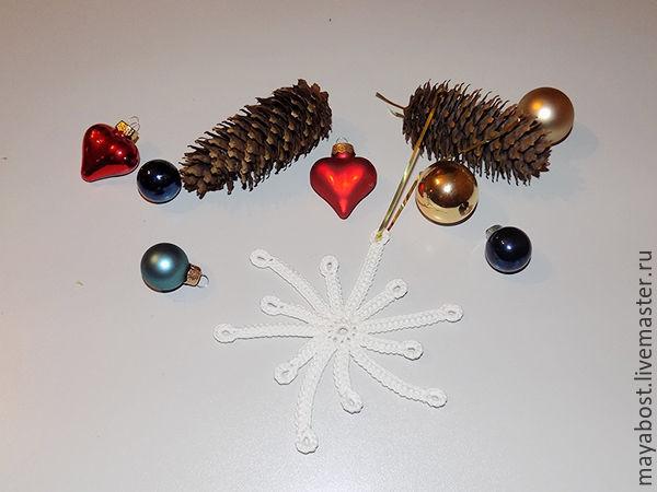 новогоднее украшение, мастер класс irish lace