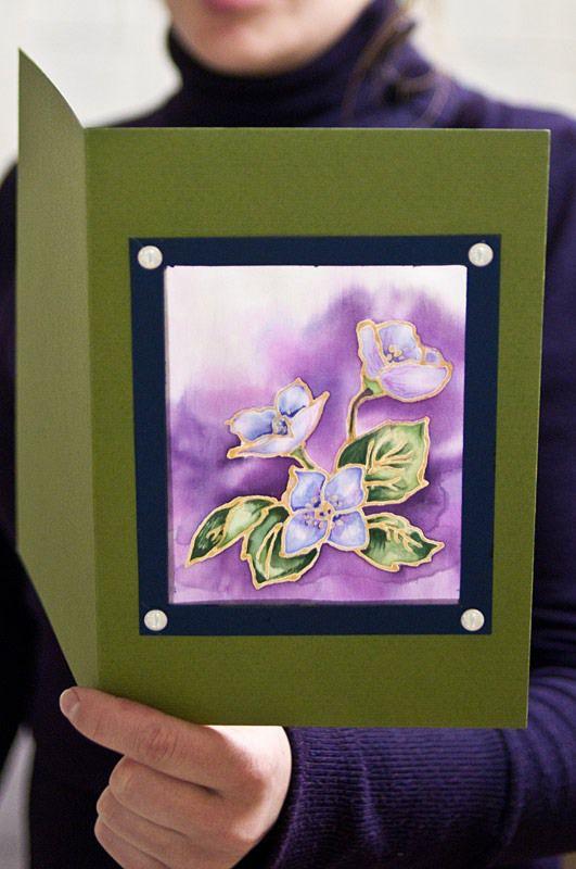 Батик на открытках, открытке поздравления открытках