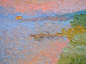 Видео к картине Раннее утро. Восход солнца | Ярмарка Мастеров - ручная работа, handmade