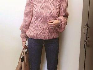 Женя связала нежнейший свитер по моему описанию!. Ярмарка Мастеров - ручная работа, handmade.