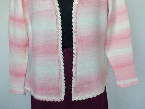 """Женский жакет """"Розовый градиент"""". Ярмарка Мастеров - ручная работа, handmade."""
