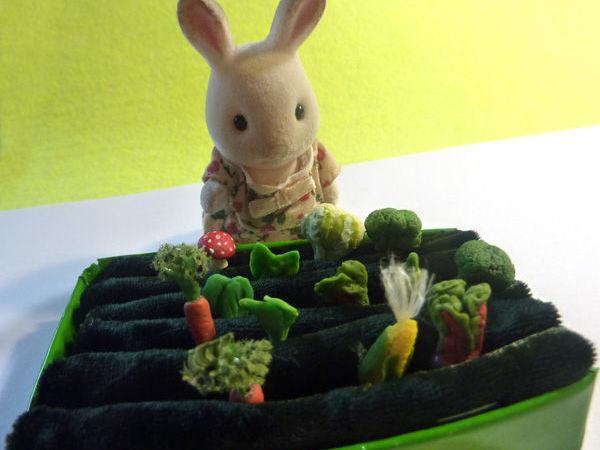 Как сделать огородик для игрушечных овощей   Ярмарка Мастеров - ручная работа, handmade