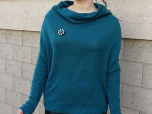 Кашемировый свитер-кокон с воротником-хомут в магазине!. Ярмарка Мастеров - ручная работа, handmade.