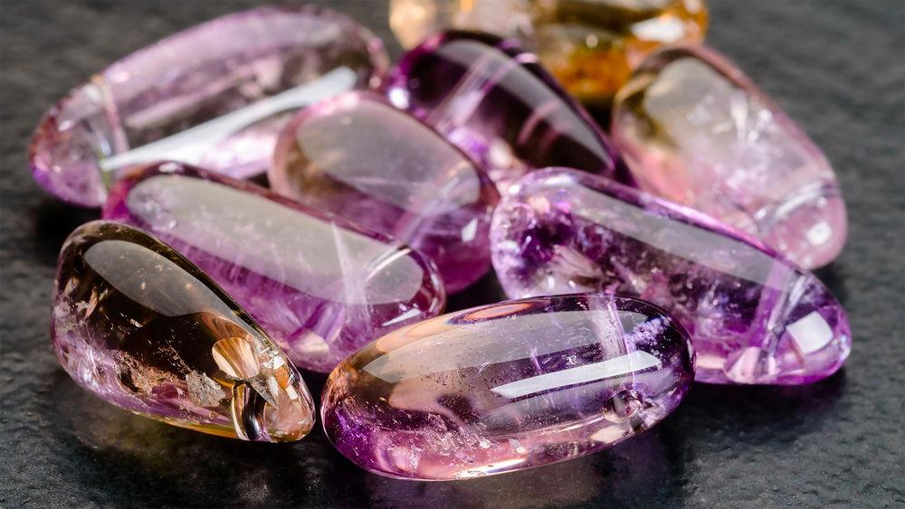 аметист, камни натуральные