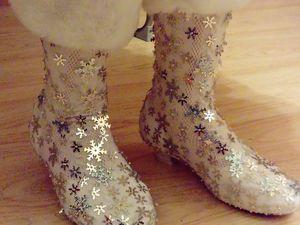 Делаем сапожки для Снегурочки. Ярмарка Мастеров - ручная работа, handmade.