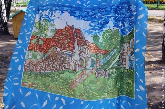Деревенская улочка в Овере .По мотивам произведения Ван Гога.