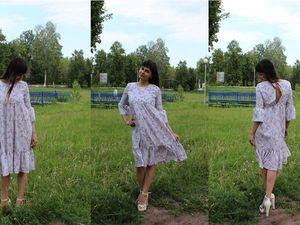 Шьем легкое платье с оборками из шифона. Ярмарка Мастеров - ручная работа, handmade.