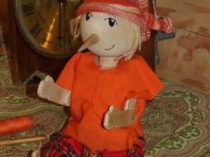 Кукла Буратино из дерева, изготовление вместе с ребенком. Ярмарка Мастеров - ручная работа, handmade.