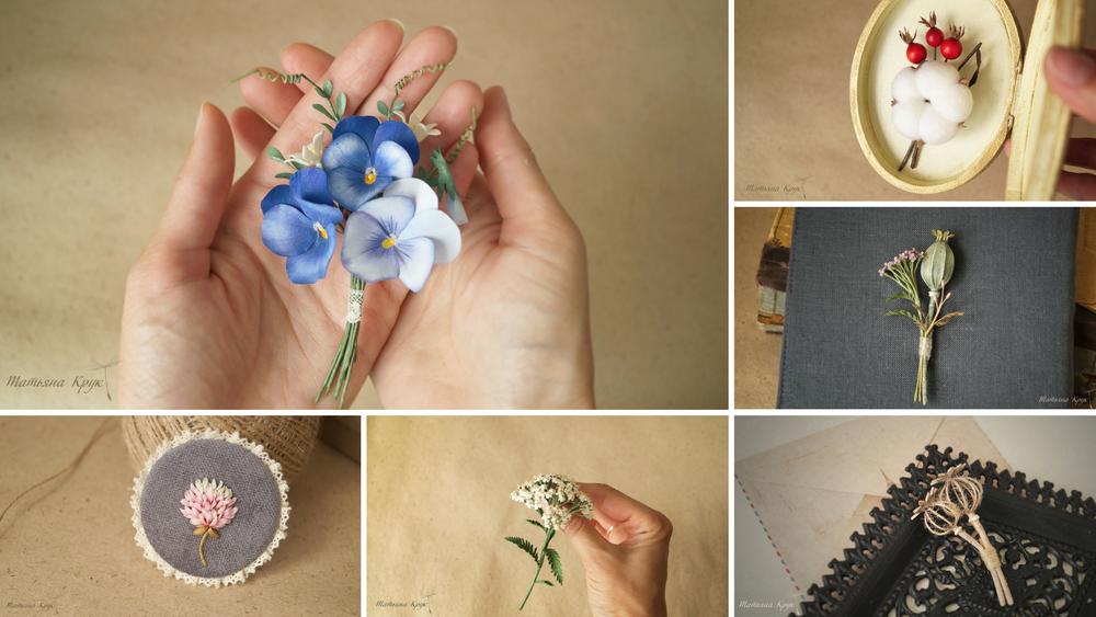 украшение ручной работы, цветочная композиция, брошь мак маки, украшение с цветами, текстильная брошь цветок