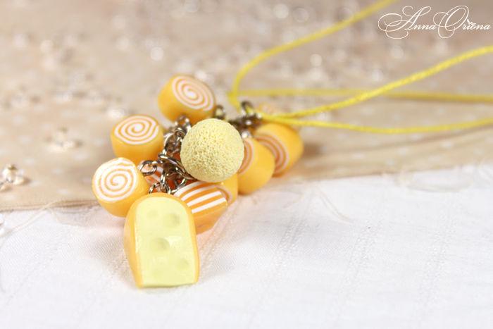 желтый кулон