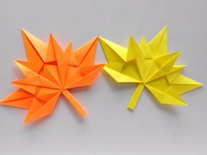 Осенний лист клена из бумаги Кленовый лист оригами. Ярмарка Мастеров - ручная работа, handmade.