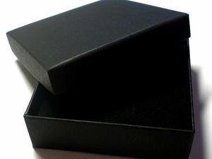 Большое поступление черных коробочек 9 х 9 х 3 см крышка/дно. Ярмарка Мастеров - ручная работа, handmade.