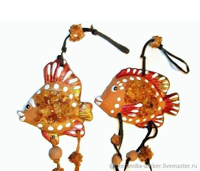 рыбки купить, рыба по гороскопу, 8 марта подарок, рыбка с янтарём, для девушки подарок, рыбка в подарок, для детей