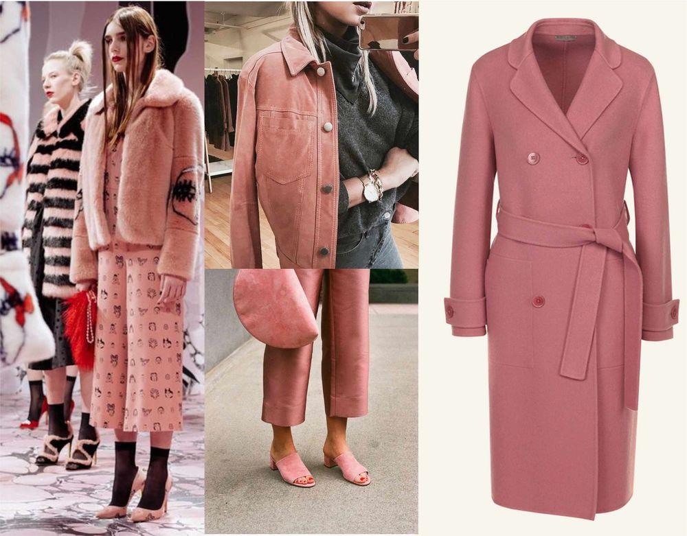 неделя моды, модные цвета в пальто