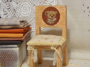 Стульчик для ваших любимых малышей.. Ярмарка Мастеров - ручная работа, handmade.