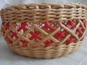 Мастер-класс по плетению ажура на готовой корзинке. Ярмарка Мастеров - ручная работа, handmade.