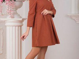 Платье Клетчатое Рыжая Осень. Ярмарка Мастеров - ручная работа, handmade.