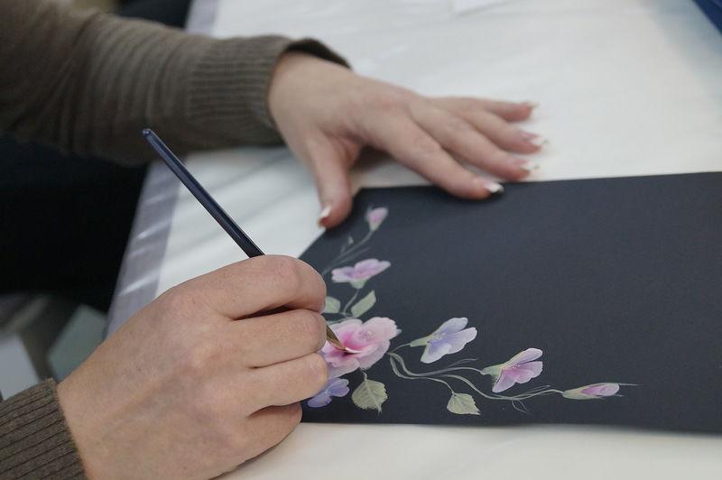 расписная мебель, обучение росписи мебели, курсы роспись мебели