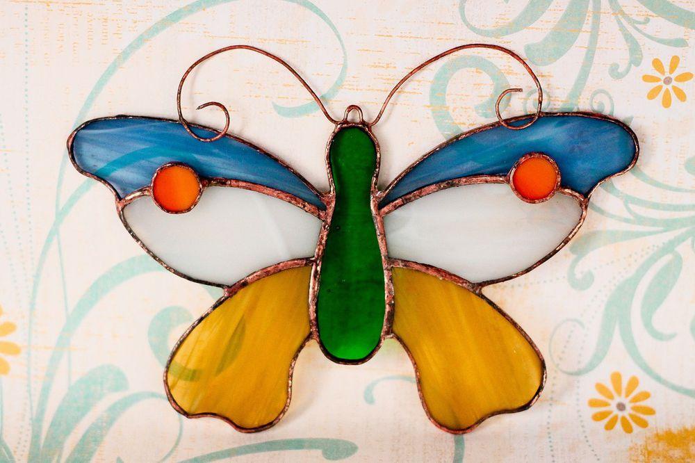 витраж тиффани, цветное стекло, панно, серьги