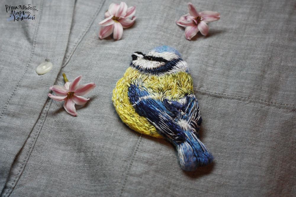 вышивка, птица