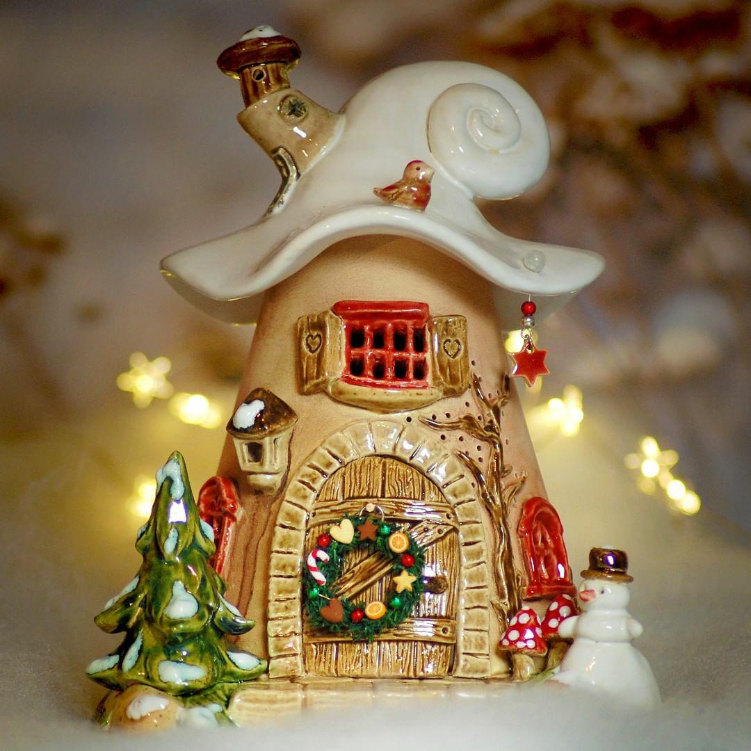 Домики для фей: волшебные керамические подсвечники Antje Rosemann, фото № 29