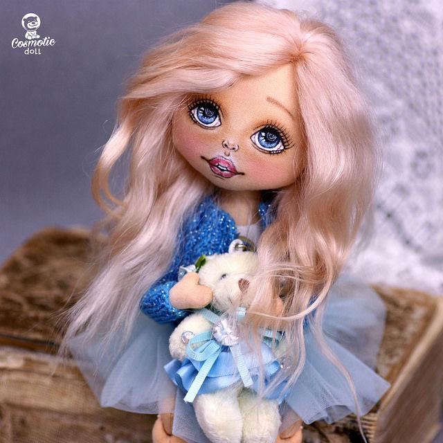 doll, кукла интерьерная, кукла с большими глазами