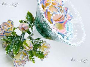 Видеоурок: лепим розу из холодного фарфора. Зимнее праздничное оформление. Ярмарка Мастеров - ручная работа, handmade.