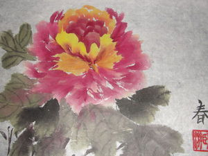 Пион в китайской  живописи | Ярмарка Мастеров - ручная работа, handmade