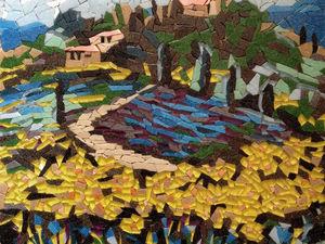 """Создаем мозаичную картину """"Цветущая Тоскана"""". Ярмарка Мастеров - ручная работа, handmade."""