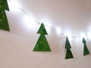 Как сделать на скорую руку новогоднюю гирлянду из пористого картона. Ярмарка Мастеров - ручная работа, handmade.