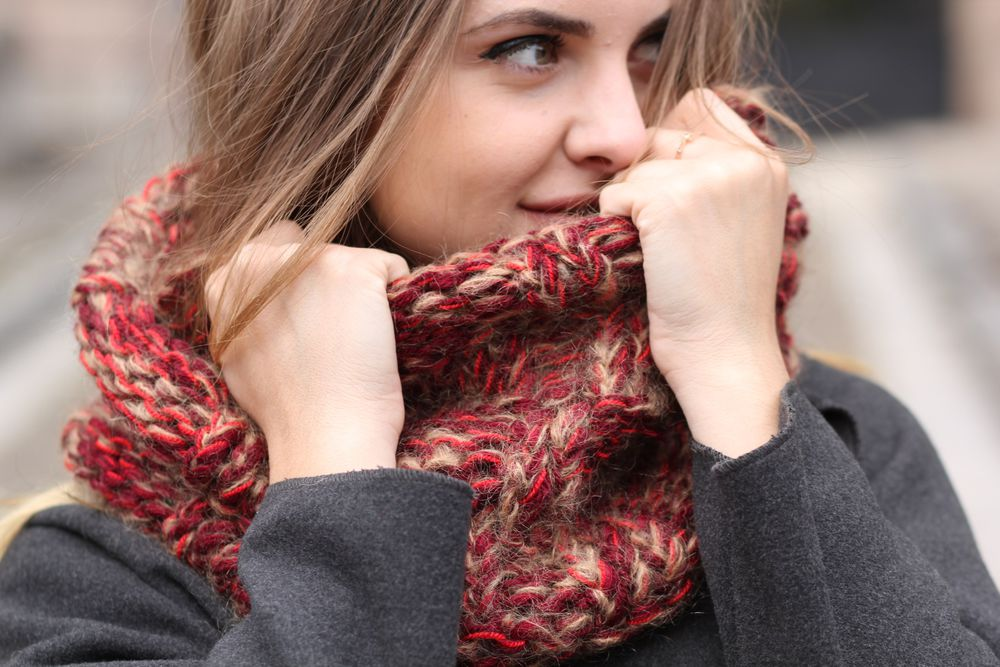 шарфы акция, шарф в подарок, теплій шарф