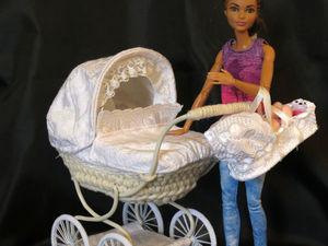 Кукольная коляска для двойни. Ярмарка Мастеров - ручная работа, handmade.