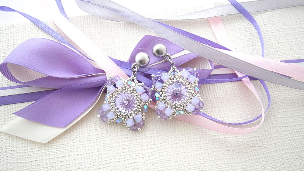 украшения, серьги, бисер, серьги из бисера, jewelry, jewellery, earrings, видео, свадьба, свадебные украшения