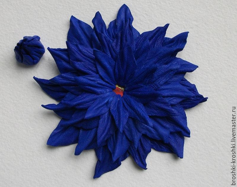 мк цветка из кожи