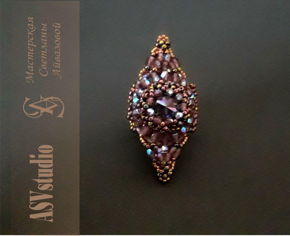 кольцо, кольцо из бсера, кольцо своими руками, украшение на руку, авторские украшения, подарок девушке, стильное украшение