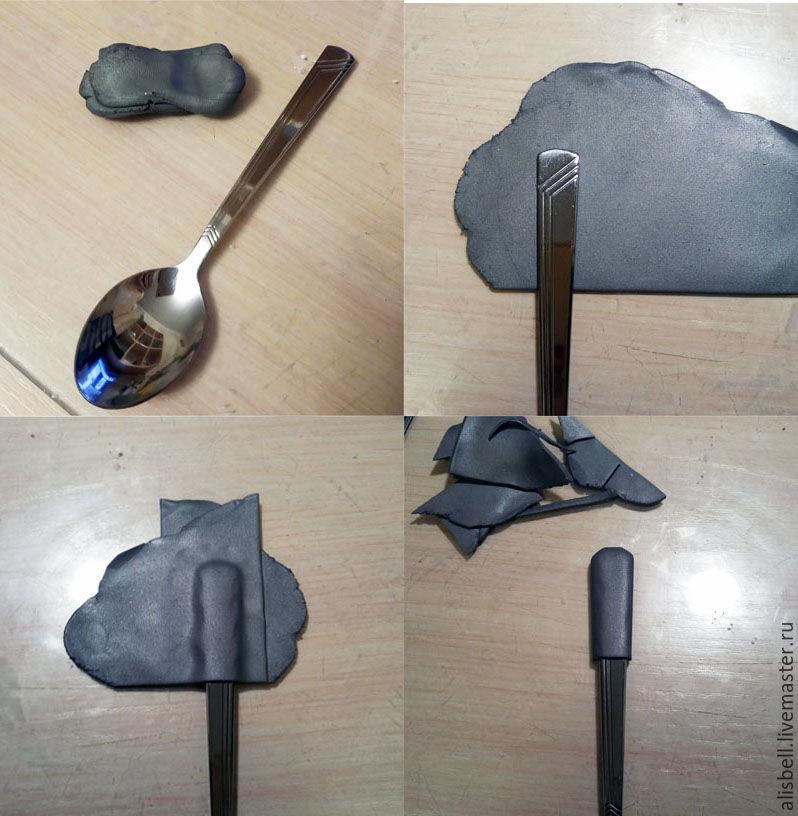 пасха, декор ложки
