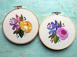 Цветущая гладь: яркая вышивка Leslie Sauceda-Morales. Ярмарка Мастеров - ручная работа, handmade.