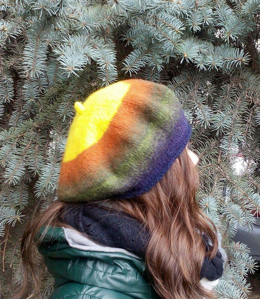 Вязано-валяные береты, фото № 8