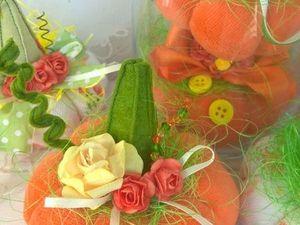 Создаем текстильные тыквочки для осеннего декора. Ярмарка Мастеров - ручная работа, handmade.