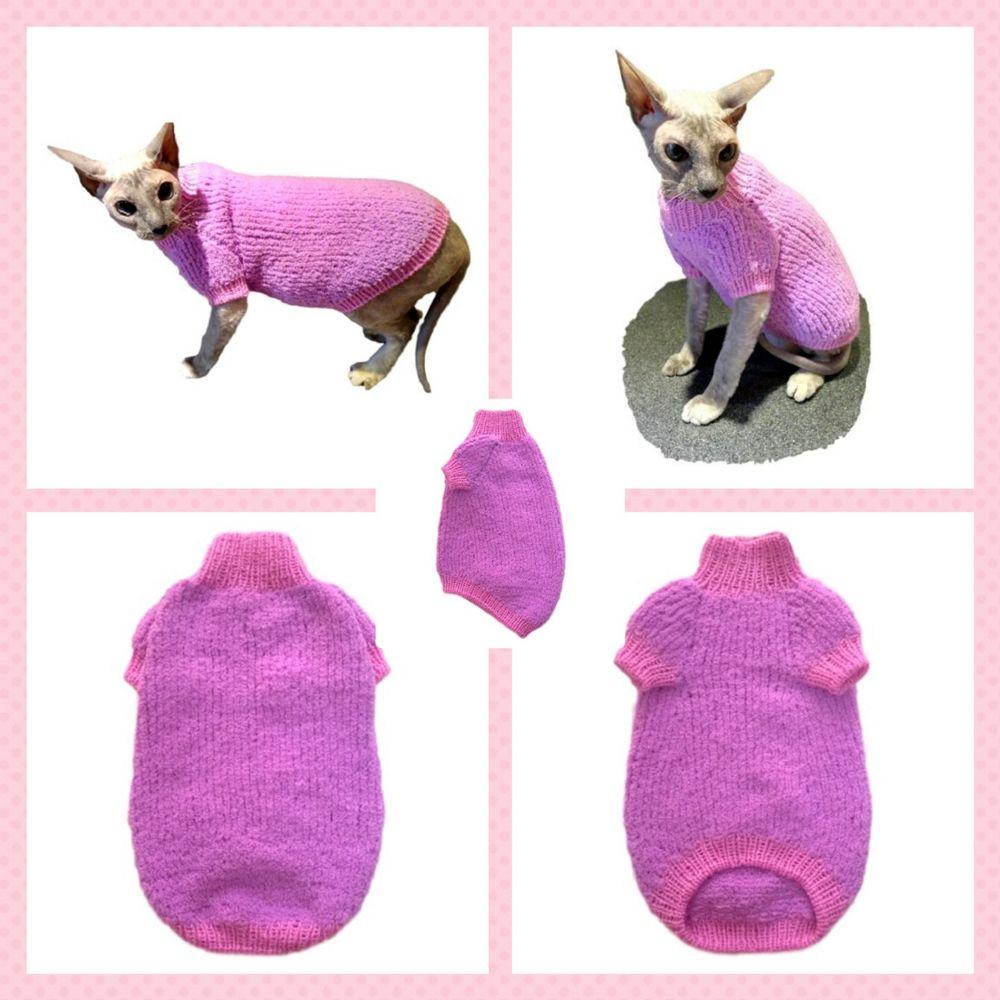 кошка, сфинкс, одежда для сфинкс, одежда сфинкс, одежда кошке, свитер для кошки, свитер для сфинкс, одежда для кошки, плюшевый свитер кошке, плюшевый свитер сфинксу