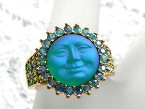 Видео. Кольцо Небесный лик Луны, Kirks Folly, США. Ярмарка Мастеров - ручная работа, handmade.