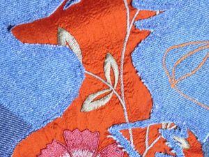 """Подушка-собирушка """"Шелковые лисы"""". Ярмарка Мастеров - ручная работа, handmade."""