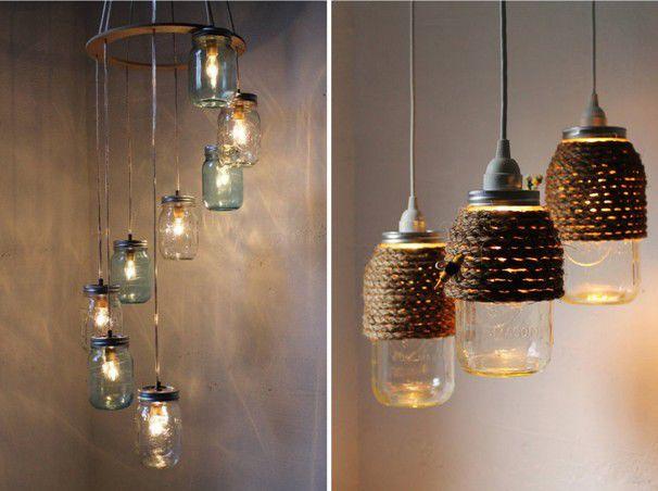 Как сделать светильник из стеклянной банки